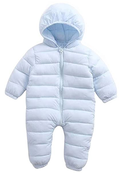 d033eb9a7e18c Amazon.com  EGELEXY Baby Unisex Winter Snowsuit Down Jacket Kids Snow Wear  Hooded Puffer Jumpsuit  Clothing