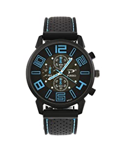 RainBabe Montre Quartz Homme Bracelet Silicone Garçons Cadran Grand Simple
