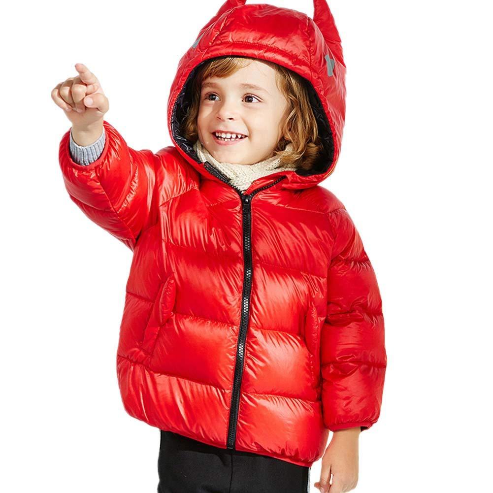 rouge 100cm YZ-HODC Manteau en Duvet pour Enfants épaissi, vêteHommest d'extérieur à Capuchon pour bébé, Chaud et Coupe-Vent, idéal pour l'hiver