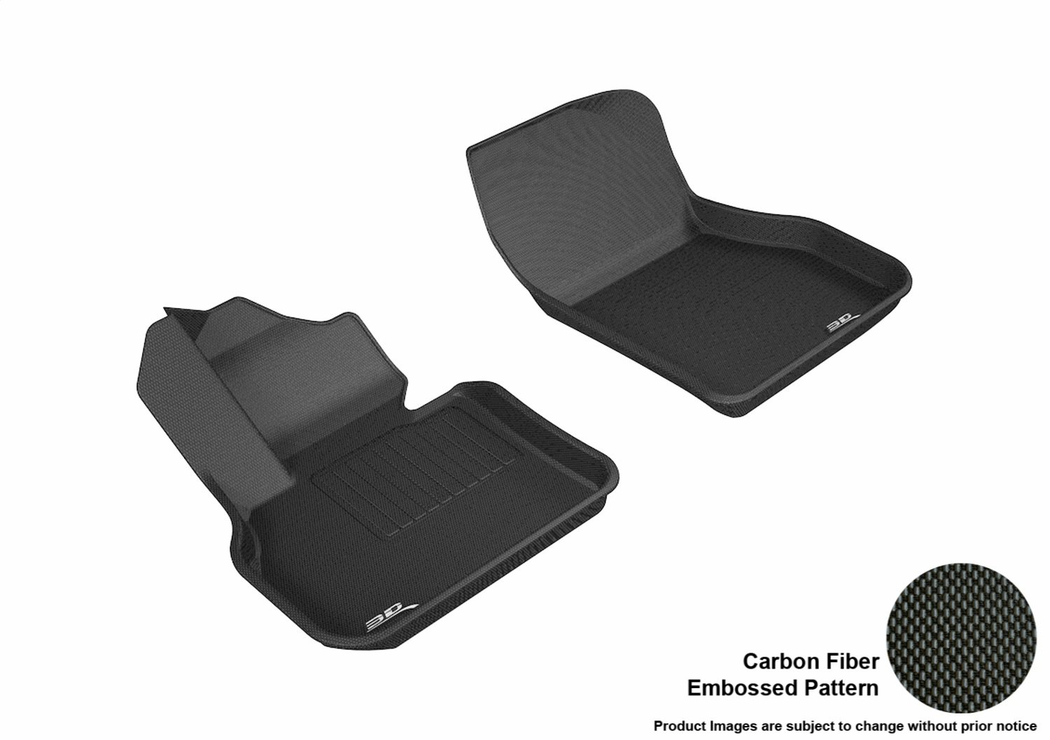 Kagu Rubber L1MN01811509 Black 3D MAXpider Front Row Custom Fit All-Weather Floor Mat for Select Mini Countryman Models