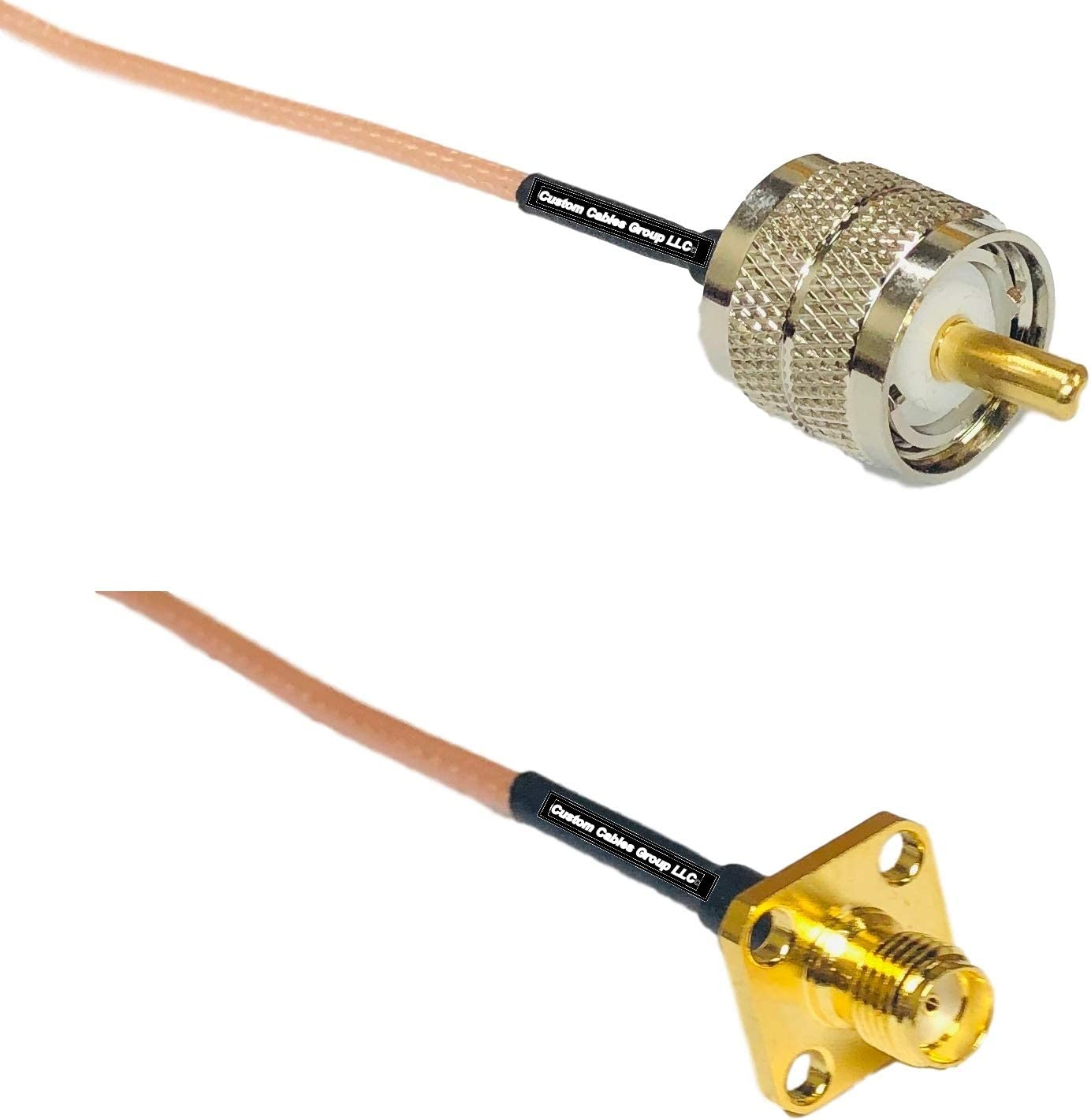 1 feet RG316 PL259 UHF Male to SMA Female Flange RF Pigtail Coaxial Cable