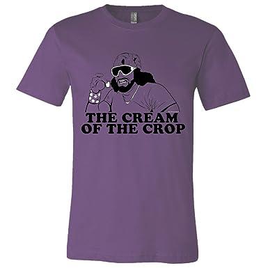 4473fb4e36dcb Pro Wrestling Tees Mens Unisex Macho Man Randy Savage Cream Crop HQ Fashion  Tee -