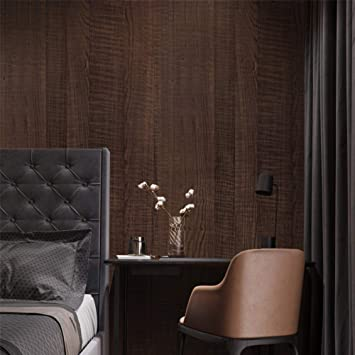 Amazon Com Wood Wallpaper Wood Grain Paper Dark Brown Decorative Paper Self Adhesive Wallpaper Wood Vinyl Wallpaper Peel And Stick Wallpaper Easily Removable Sticker Paper For Wall Decal Home Improvement