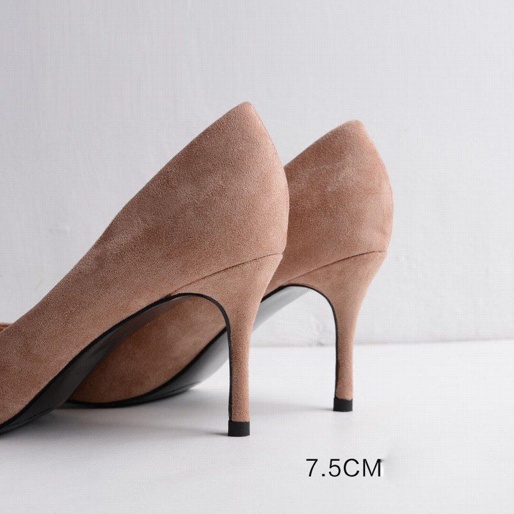 HH Frau High Heel Spitze mit mit mit Feinen Wildleder Sexy Herbst Stöckelschuhe Huidong Schuhe High Heels Schuhe e623c0