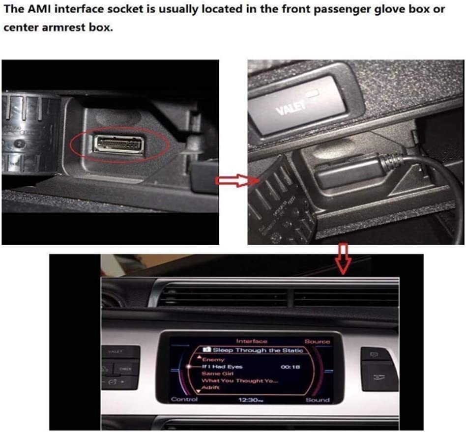 AMI MDI C/âble Adaptateur AUX pour Interface Musicale Compatible avec VW Volkswagen pour IP 11 Pro Max XS Max XR X 8 Plus