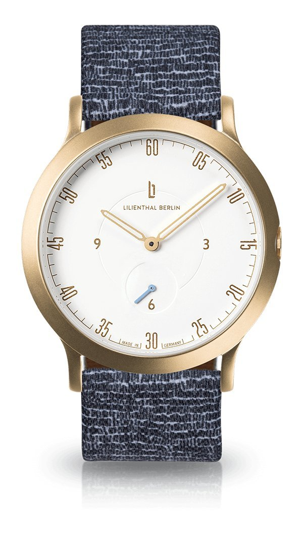 Lilienthal Berlin -Made in Germany- ベルリンの新しい時計モデル L1 ステンレススチール ケース B078WS7Y2K Size: 37.5 mm|Case: gold / Dial: white / Strap: cobblestones Case: gold / Dial: white / Strap: cobblestones Size: 37.5 mm