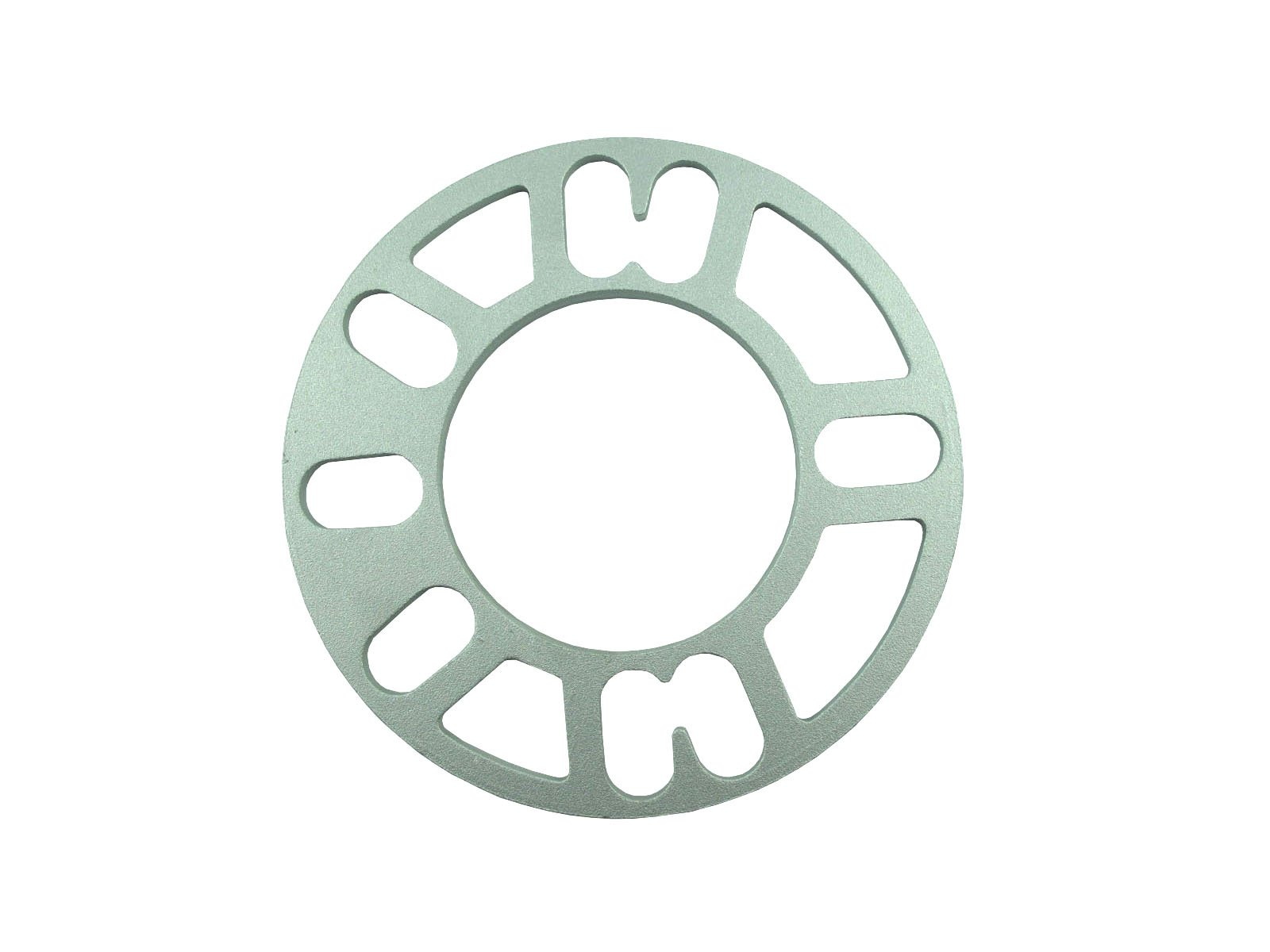 2PCS - SH-WS100-5 Aluminum Alloy 4 and 5 Lug 5mm Wheel Spacer Gasket For Auto Vehicle