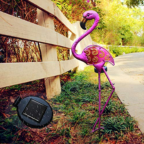 Ulmisfee Garden Solar Lights Outdoor Solar Flamingo Garden Stake Light Decorative for Pathway, Patio, Lawn, Walkway and Yard