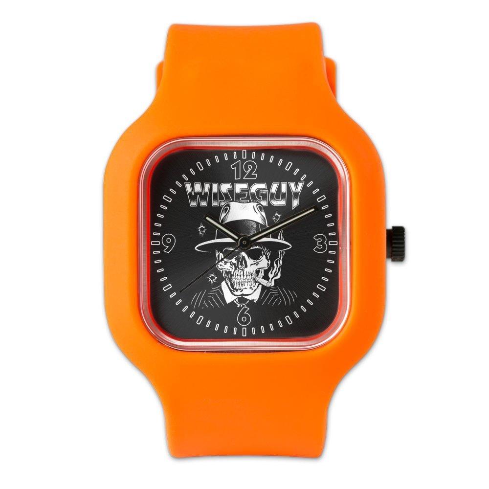 Orange Fashion Sport Watch Wiseguy Skeleton Smoking Cigar