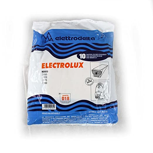 Bolsas para aspiradora Electrolux D18 10pz: Amazon.es: Hogar