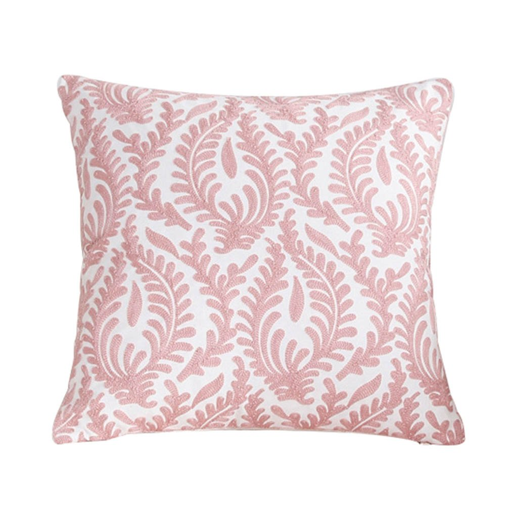 Leisial Coral Branches Shaped Square Cushion Cover Pillow Throw Case Home Office Bar Decorative Square 45x45cm without Core(Pink) GG2RWIP7061F5007A13843K
