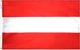 product image for Annin Flagmakers Model 190464 Austria Flag Nylon SolarGuard NYL-Glo, 2x3 ft, 100% Made in USA to Official United Nations Design Specifications