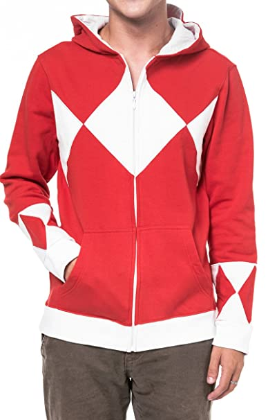 Power Rangers - Sudadera con Capucha - para Hombre Rojo Medium