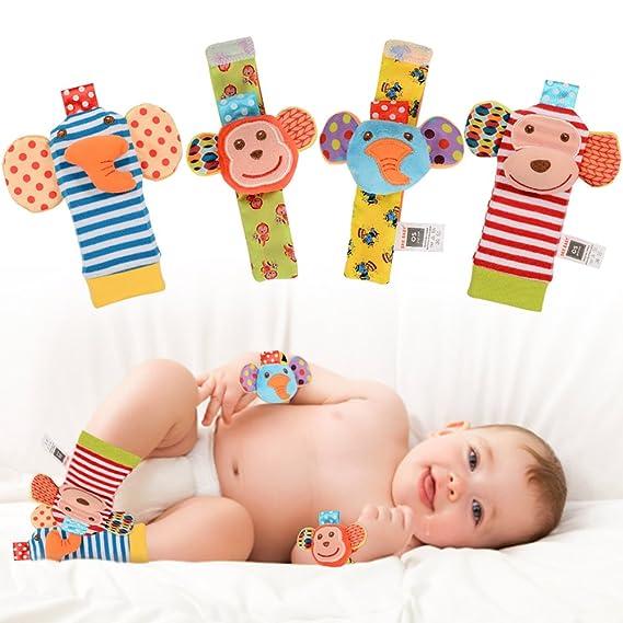 06e379220 Amazon.com  ThinkMax Baby Wrist Rattles
