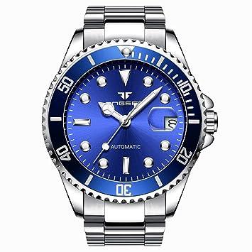 Relojes, Relojes Automáticos para Hombre Fngeen, Relojes De Pulsera, Brazalete De Acero Inoxidable, Correa Impermeable De Lona, Reloj Verde, ...