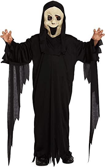 Childrens Demon Ghost Scream Costume Kids Halloween Party Horror ...