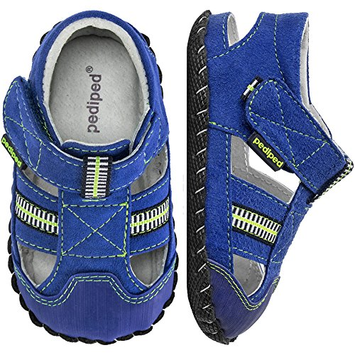 pediped Originals Gustan Blue/Lime (Infant) Baby Shoe