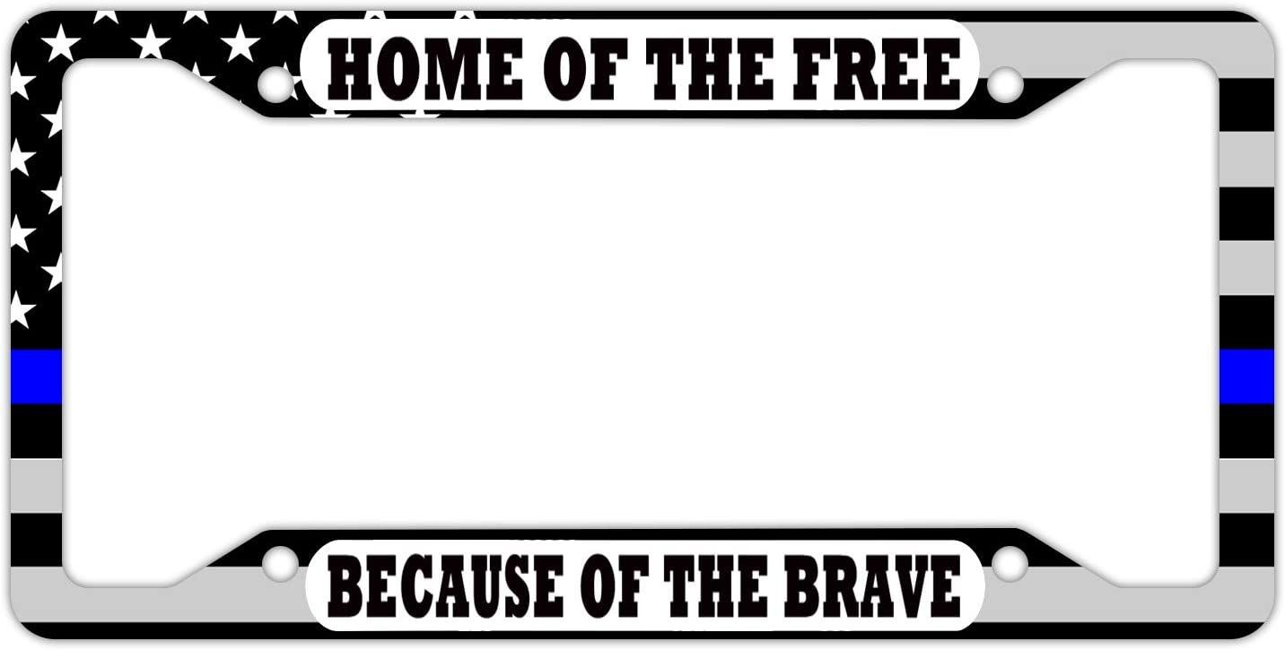 DZGlobal Black Lives Matter License Plate Frame American Flag License Plate Holder USA Car Tag Frame for Men and Women Black White