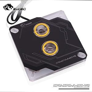 Bykski CPU Liquid Cooler CPU Waterblocks Watercooling Block CPU Water Liquid Cooling Block for PC Intel 115X X99 X299 LGA1366 LGA1156 LGA1155 LGA1151 LGA1150 LGA2011 LGA2066 5V RGB LED (Black)