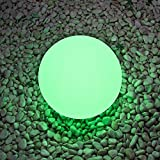 LED Light Ball: 8-inch LOFTEK Cordless Night Lights with Remote Control, Rechargeable Pool light, RGB Color Changing Floating Orb