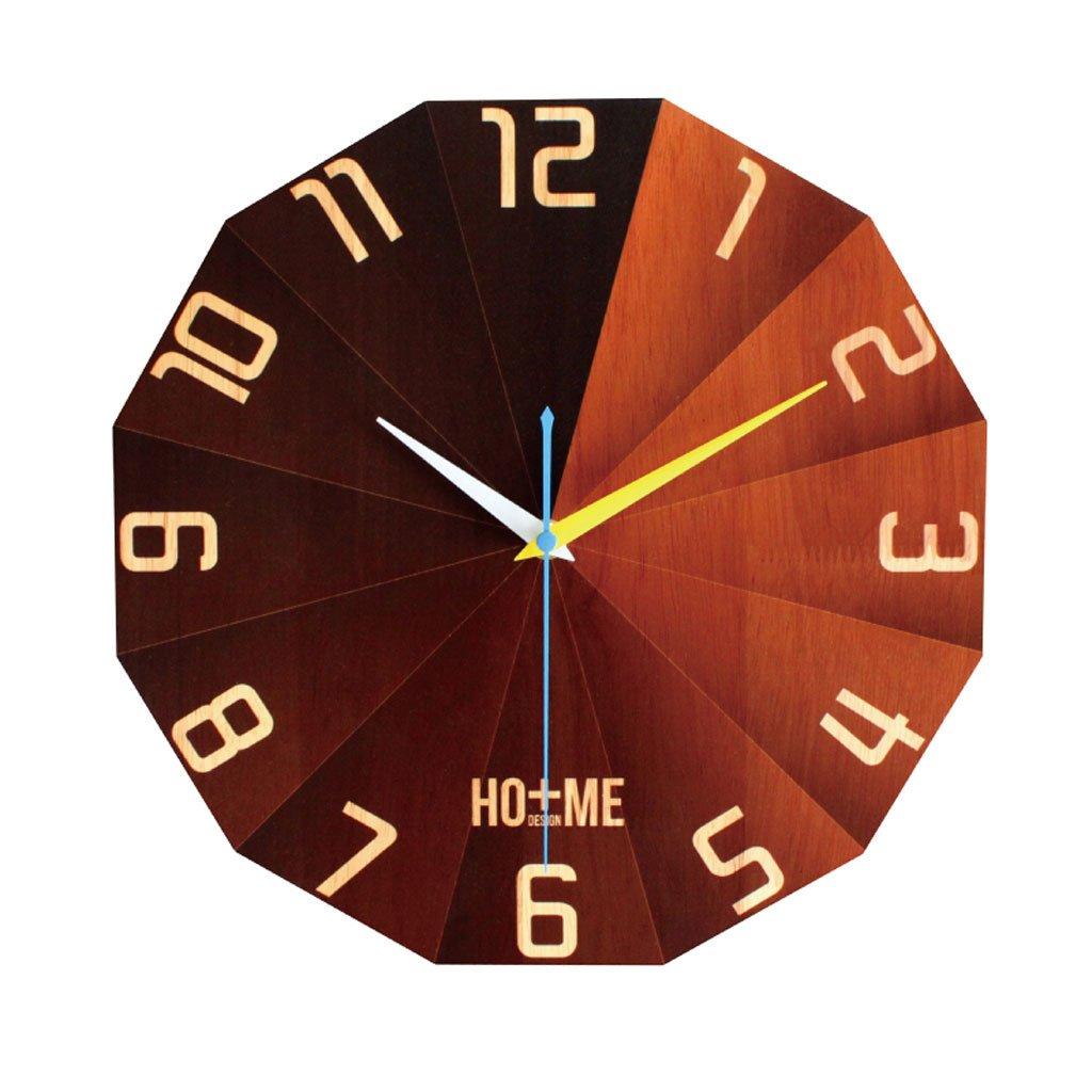 壁時計リビングルームは、人格ラウンド単純な静かな北欧の芸術固体のベッドルームの田舎 B07CSMCMWK