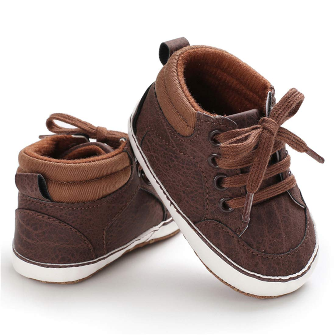 COSANKIM Infant Baby Boys Girls Shoes Soft Sole High-Top Ankle Sneakers Newborn Toddler First Walker Crib Tennis Shoes 0-18 Months