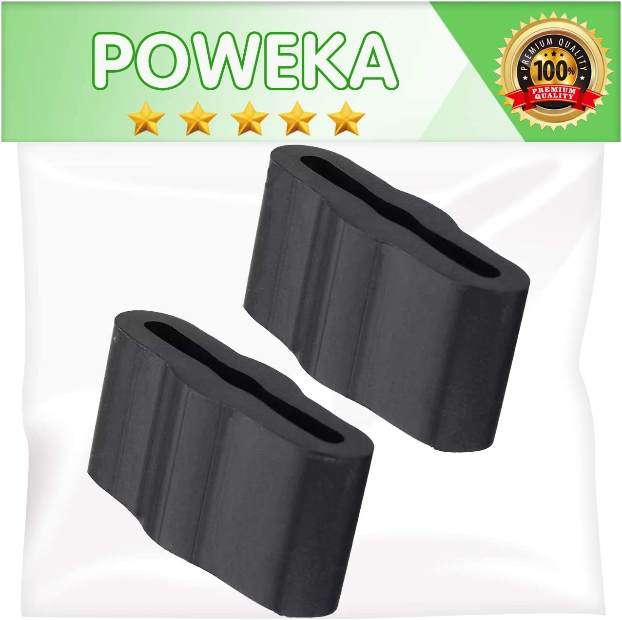 Poweka 8268961 Friction Pad Replacement Compatible with Whirlpool Kenmore Dishwasher, Replaces WP8268961 PS731965 Pack of 2
