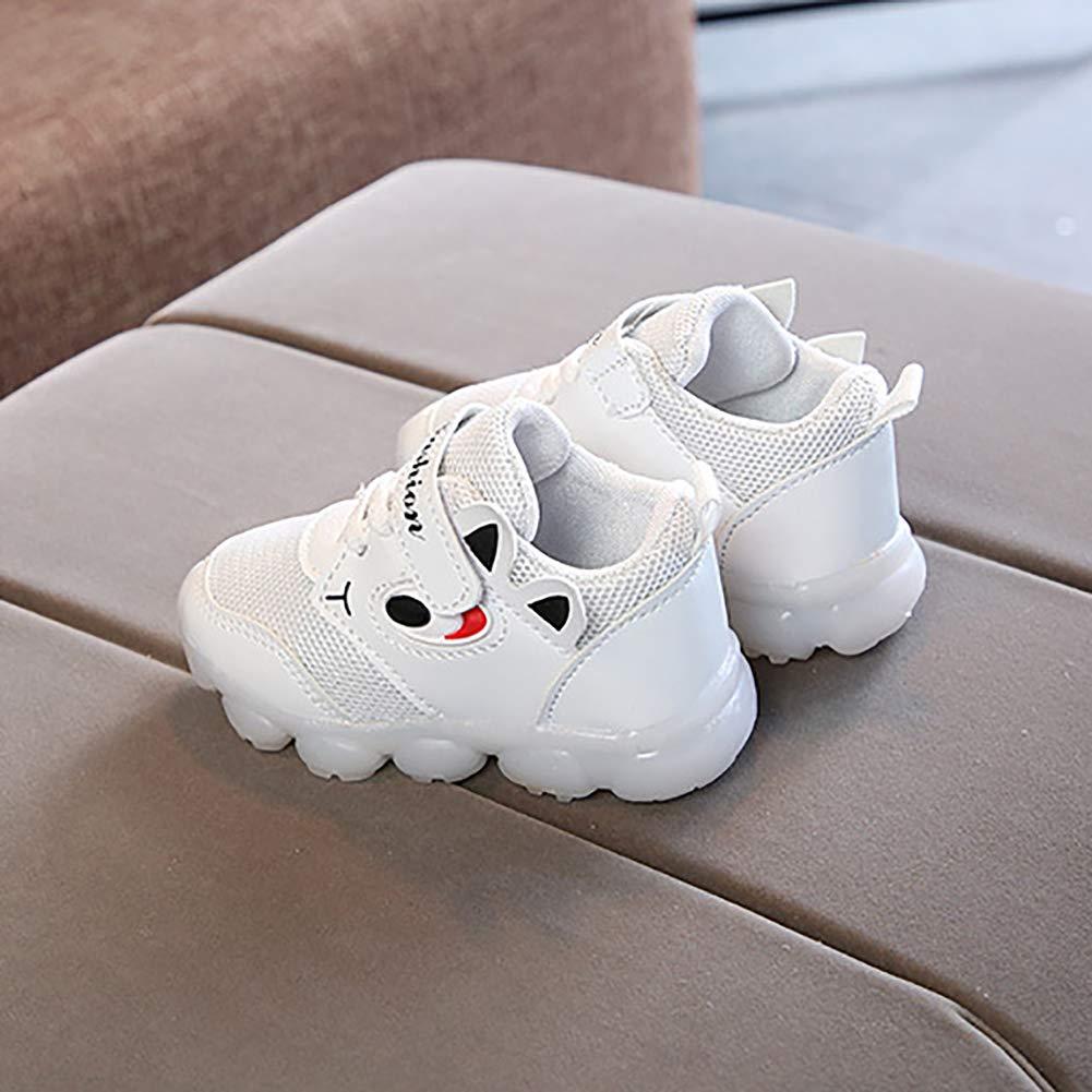Alamana Fashion Lovely Kids Girls Boys LED Light Sneaker Anti-Slip Casual Shoes Gift Red 26