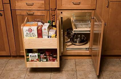 Amazon Com Omega National Maple Blind Corner Caddy Home Kitchen