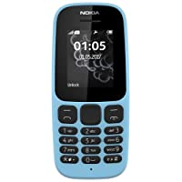 Nokia 105 1.8-Inch Single Sim Feature Phone - Blue (2017 Edition)