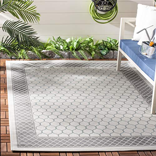 Safavieh Courtyard Collection CY7933-78A18 Light Grey and Anthracite Indoor/ Outdoor Area Rug (6'7