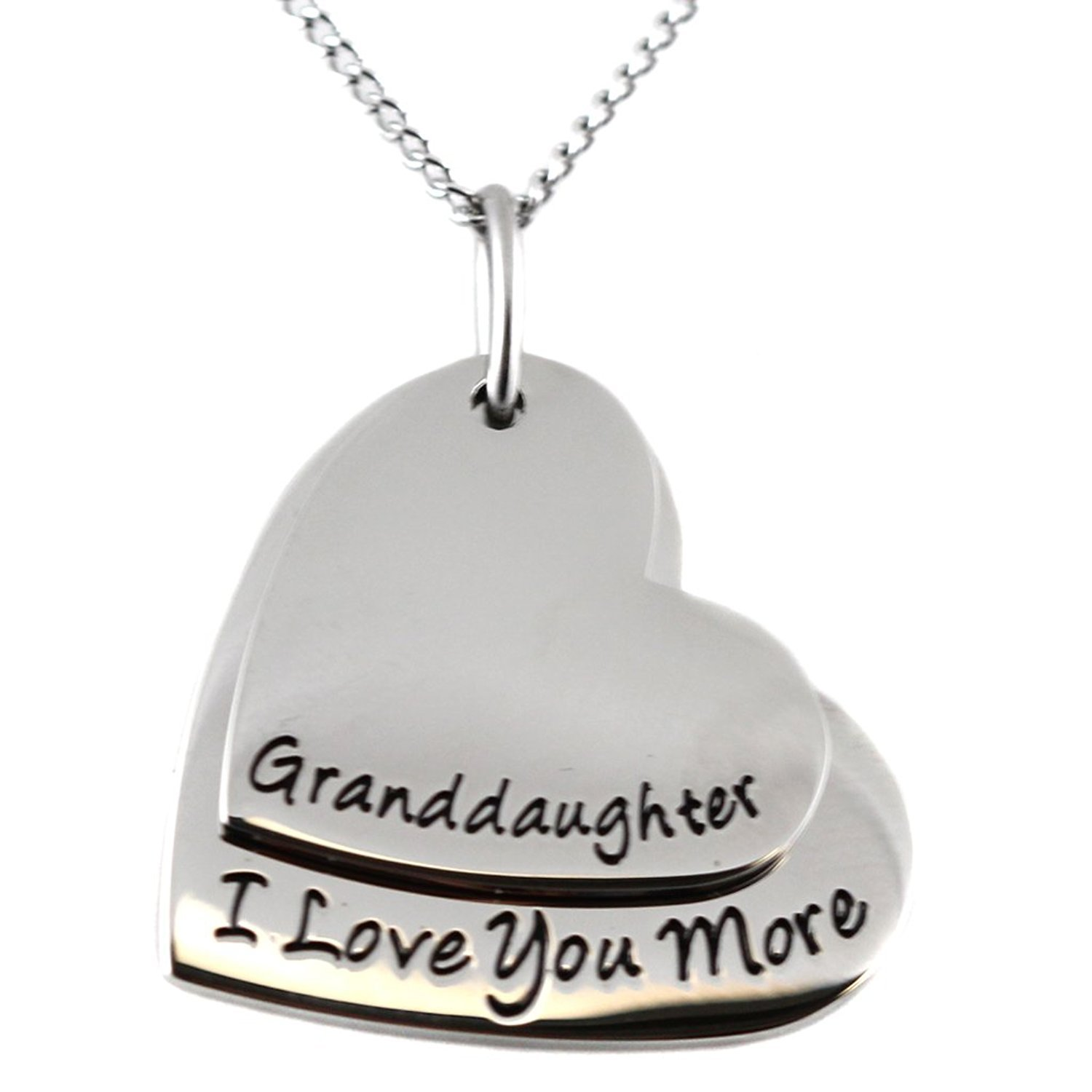 'Granddaughter, I Love You More' Pendant Necklace