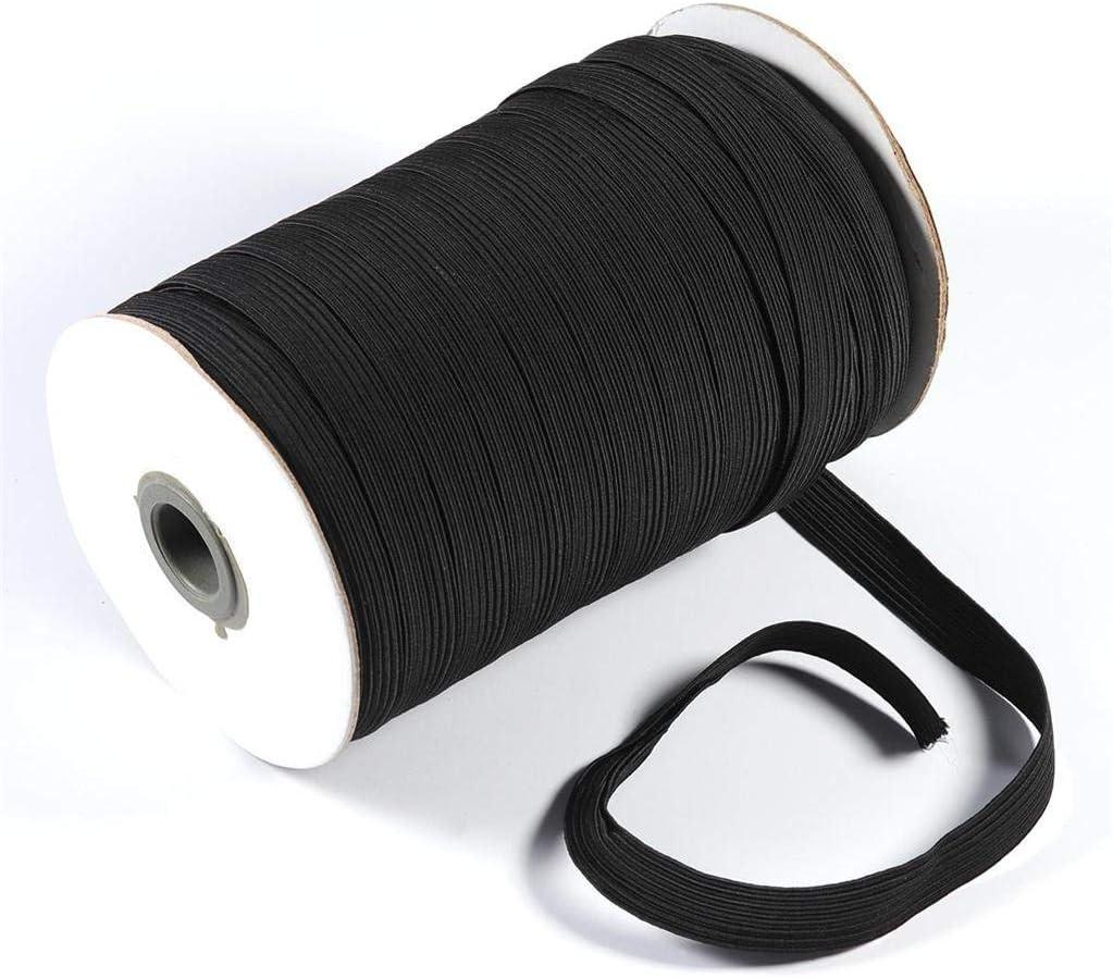 OVERMAL Corde Extensible Ruban Plat Blanc Noir Corde /élastique pour V/êtements et Artisanat,Disponible en Plusieurs Tailles