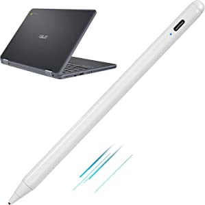Stylus Pen for ASUS Chromebook Flip 2-in-1 Touchscreen Laptop , Active Pen Digital Stylus for ASUS Chromebook Flip 2-in-1 Stylus with Ultra Fine Tip,Touch-Control and Rechargeable,White