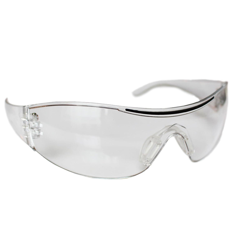 Sencillo pack de 12 gafas protectoras de plástico.