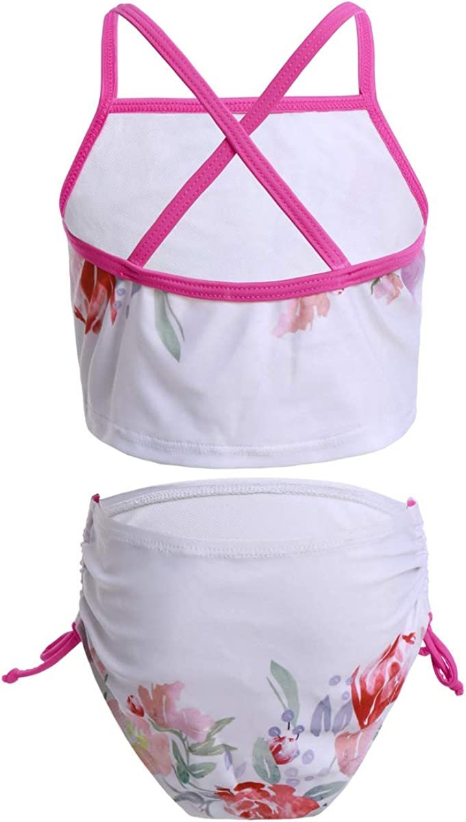 FYMNSI Girls Unicorn Swimsuit Beach Sport Halter Tankini 2-Piece Bikini Sleeveless Beach Bathing Suit Swimwear