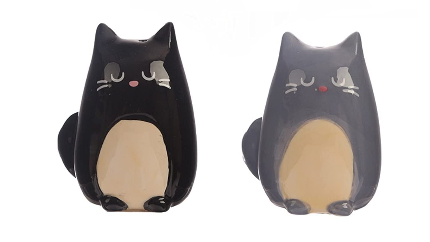Black and Grey Cat Salt and Pepper Set Puckator