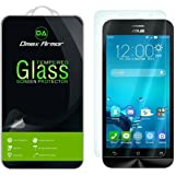 Asus ZenFone 2E Glass Screen Protector, Dmax Armor [Tempered Glass] 0.3mm 9H Hardness, Anti-Scratch, Anti-Fingerprint, Bubble Free, Ultra-clear