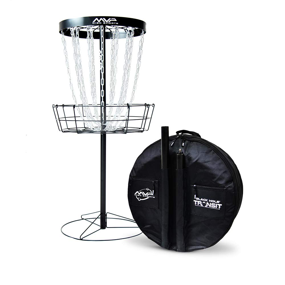 MVP Disc Sports Black Hole Pro 24 Chain Disc Golf Basket with Transit Bag by MVP Disc Sports
