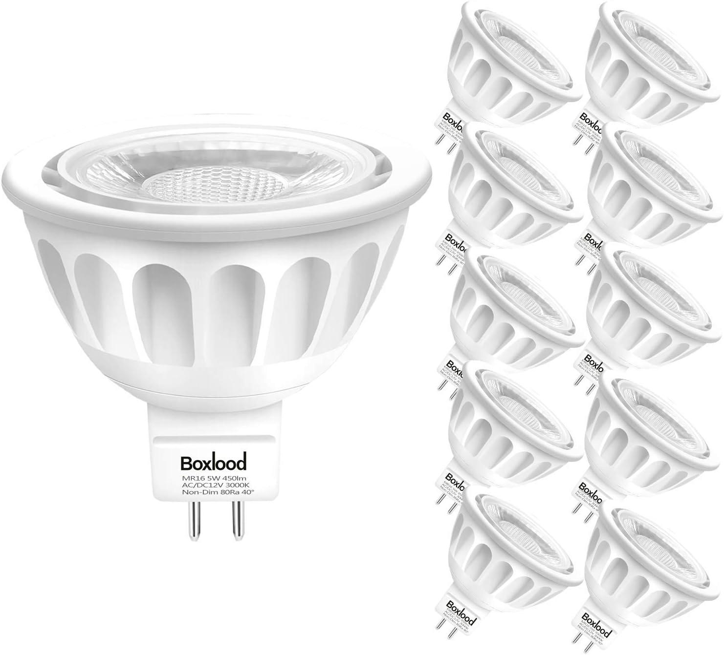 3pc MR16 6 Watt LED Daylight White 4500K Bi-Pin Base COB Light Bulb 12VAC//12VDC
