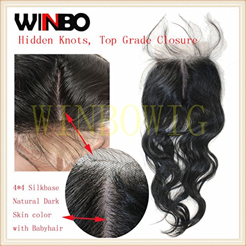 WINBOWIG Natural Silkbase Brazilian Closure product image