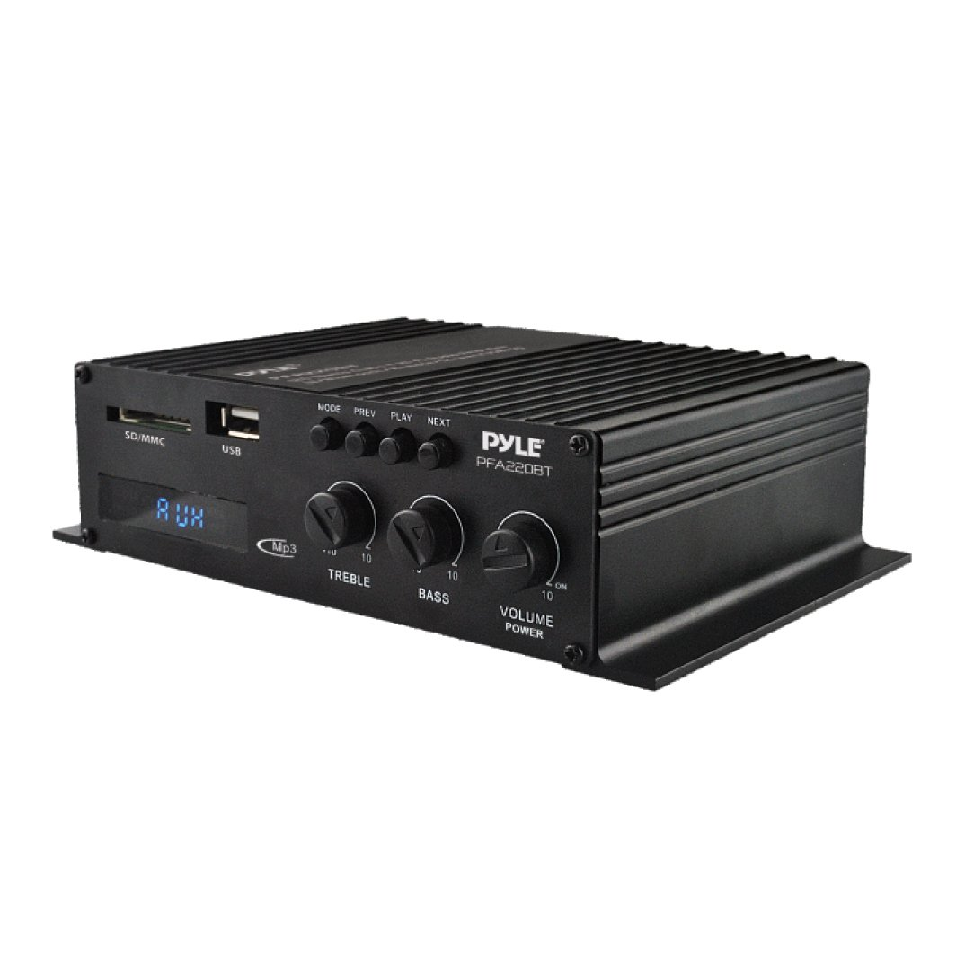Wireless Bluetooth Power Amplifier System - 300W 5.1 Channel Home Theater Surround Sound Audio Stereo Receiver Box w/HDMI, RCA, Headphone, Remote, for Subwoofer Speaker - Pyle PT592A