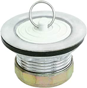 EZ-FLO 30041 Stainless Steel Tray Stopper Strainer for Bathtub or Bathroom rubber laundry drain plug, 2.9 x 2.9 x 2