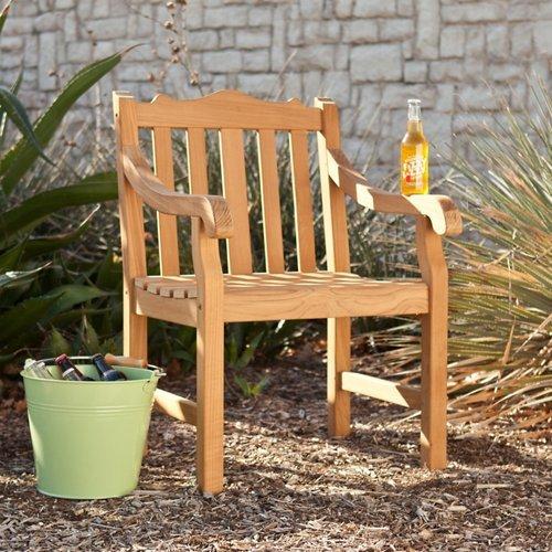 (SEI Grayson Teak Arm Chair)
