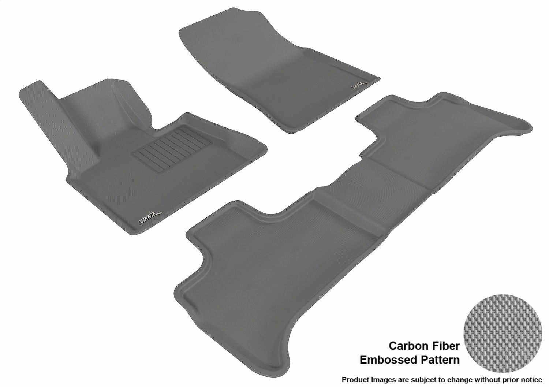 Models L1BM00511509 3D MAXpider Front Row Custom Fit All-Weather Floor Mat for Select BMW X5 Kagu Rubber E53 Black