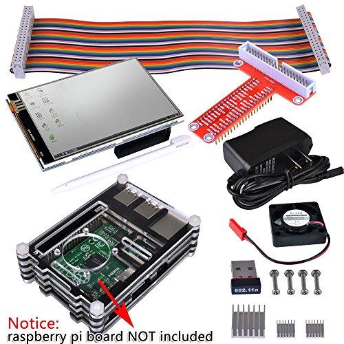 kuman RPI Starter Kit for Raspberry Pi 3 2 Model B B+(8-Items) with WiFi 150Mbps 11n USB Adapter+3.5