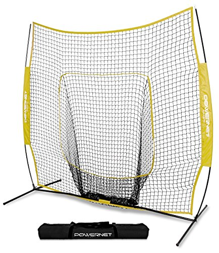 PowerNet Team Color Baseball Softball 7x7 Hitting Net w/ bow frame (Team Colours)
