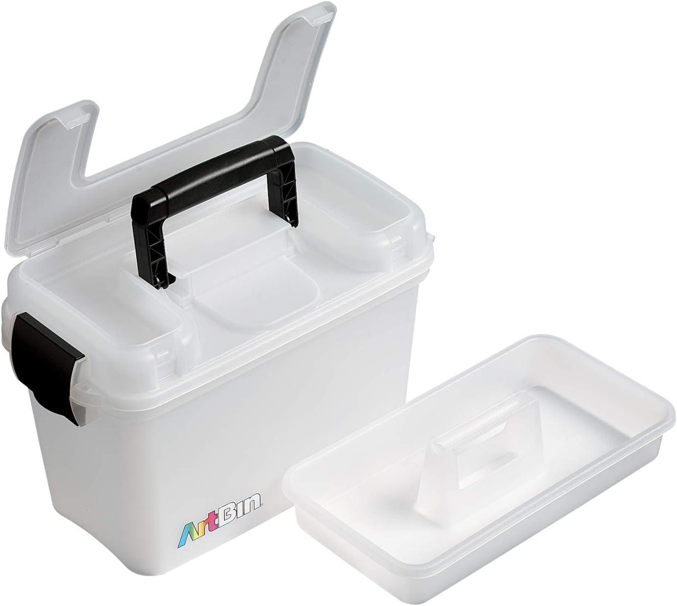 Small Plastic Storage Box Multipurpose Organizer Carry Case Container White new