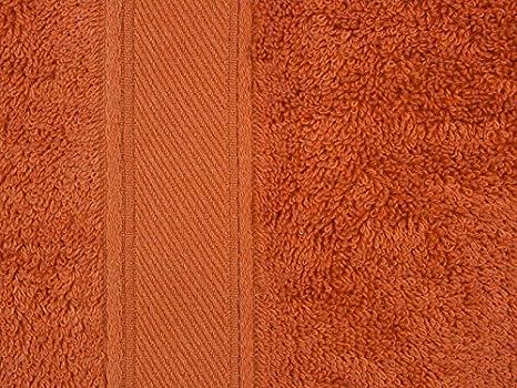 REVITEX - Toalla Rizo Estela Naranja - Lavabo 50x100 cm - 100% Algodón - Gramaje 500g/m²: Amazon.es: Hogar