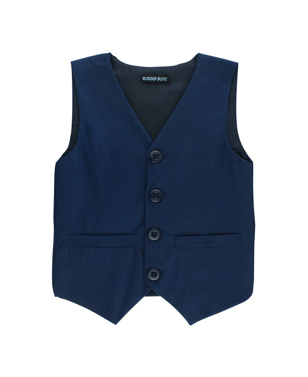 RuggedButts Little Boys Navy Blue Chino Vest BVWNVXX-NVSO-TDLR